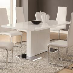 White Dining Room Table And Chairs Wheelchair Olympics Coaster Modern 102310 With