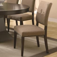 Nailhead Dining Room Chairs Cheap Wood Coaster Myrtle Side Chair W Trimming