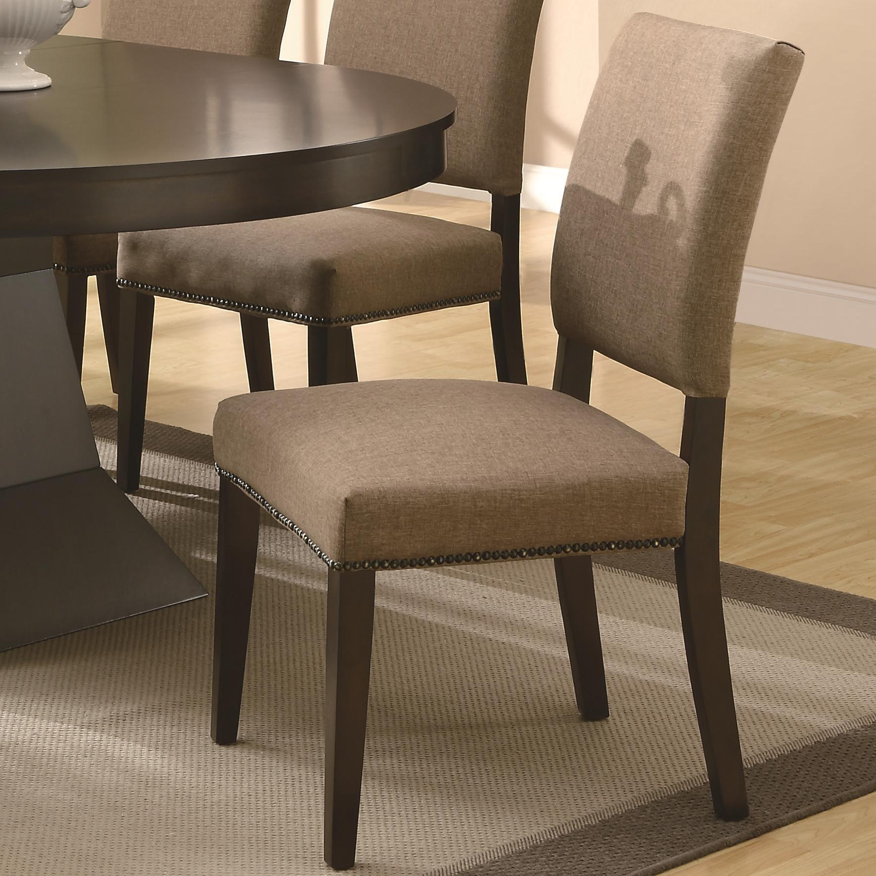 Chair Coasters Coaster Myrtle 103572 Dining Side Chair W Nailhead
