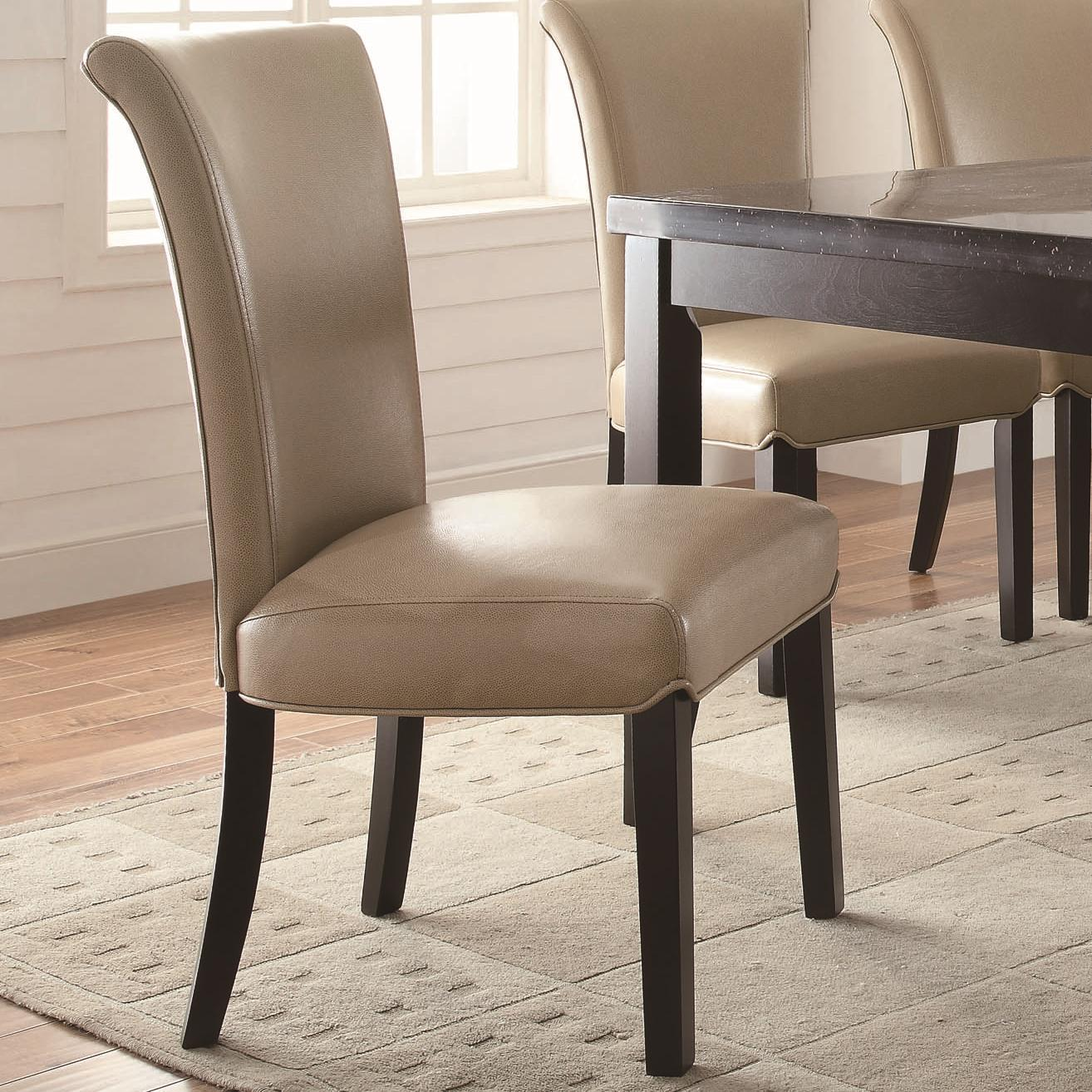 Taupe Dining Chairs Coaster Newbridge 102883 Upholstered Taupe Side Chair With