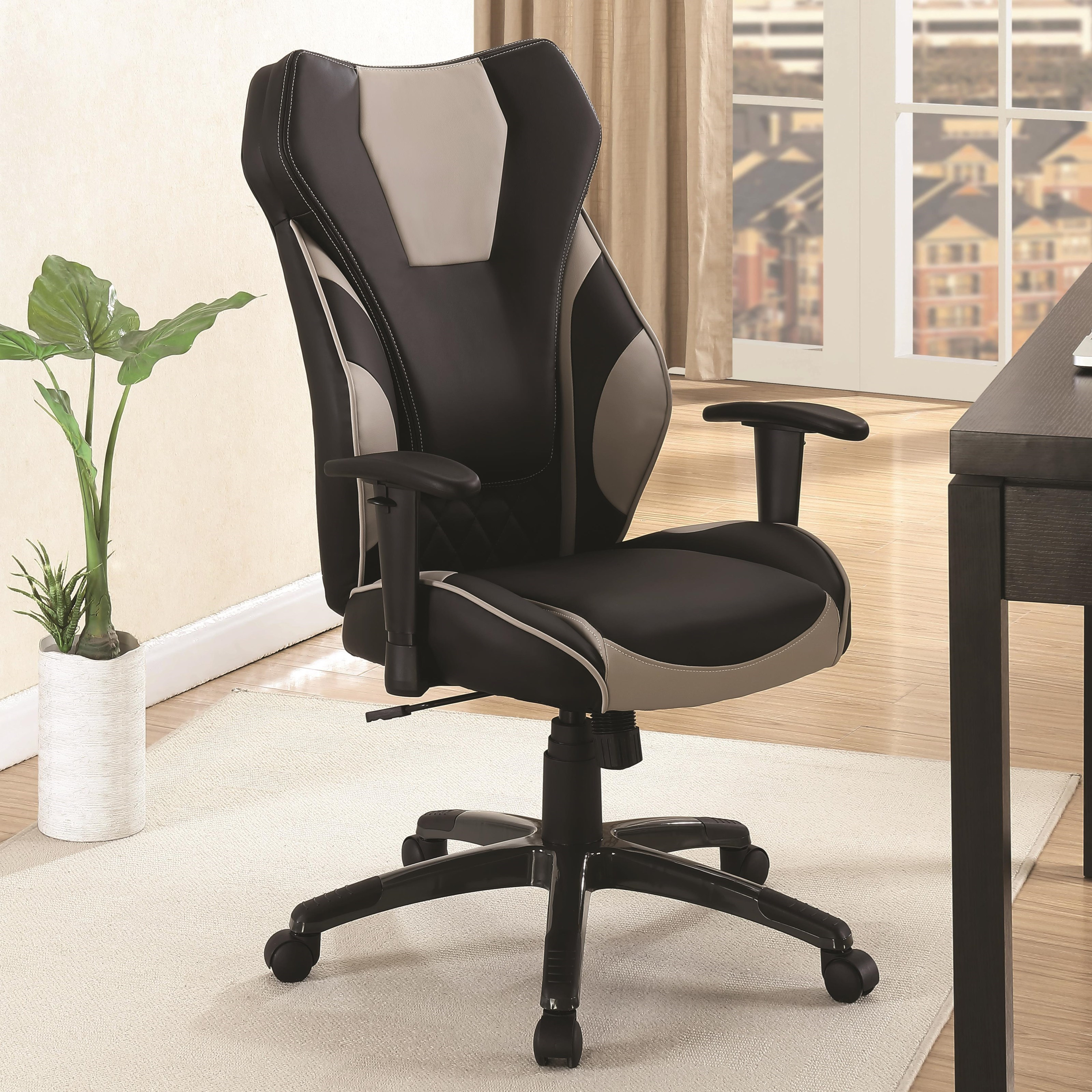las vegas office chairs banquet hall chair covers for sale coaster 801470 leatherette high back