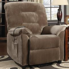 Small Lift Chairs Recliners Black Dining Sets With 6 Coaster Casual Power Recliner Brown