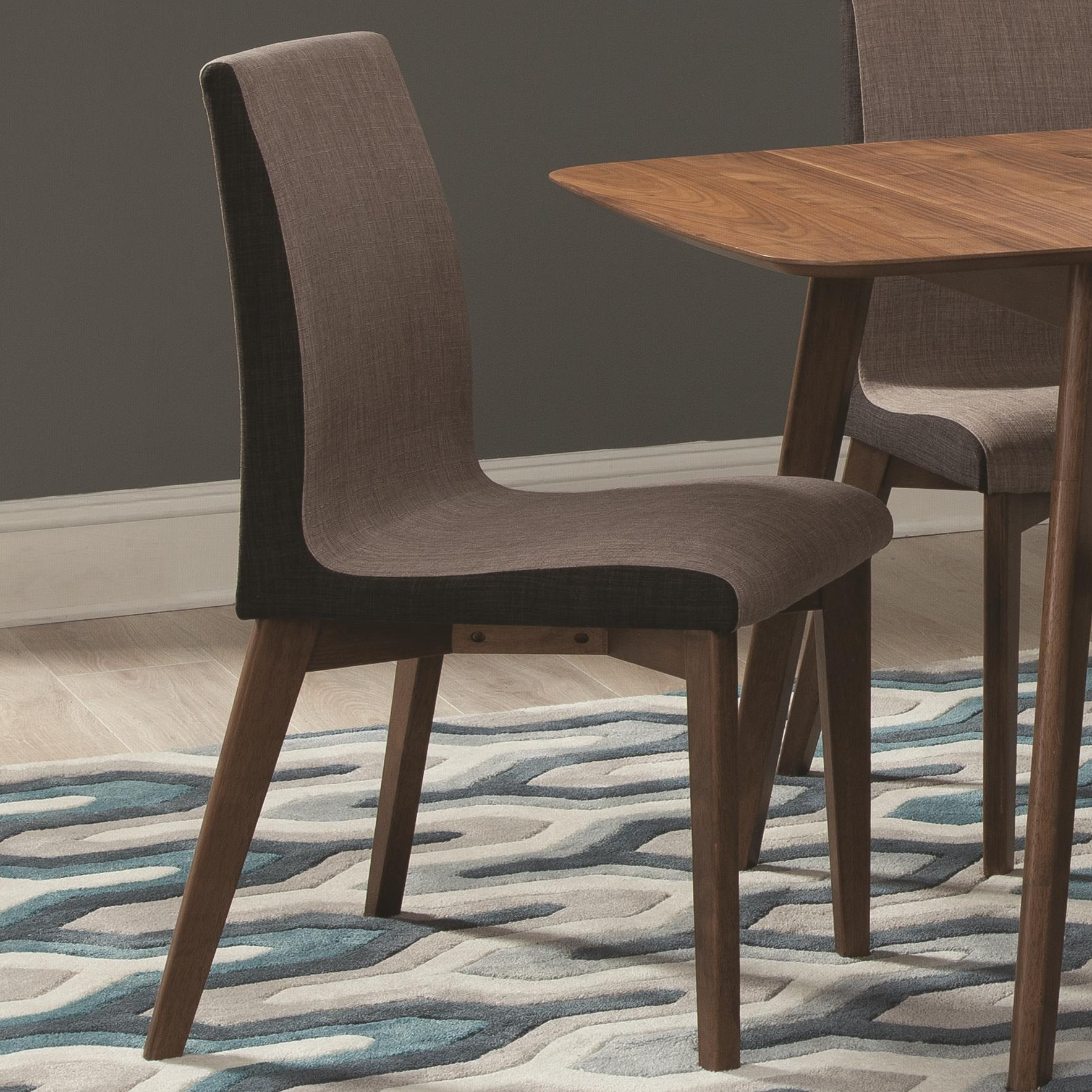 Dining Side Chairs Coaster Redbridge Dining Side Chair With Curved Back