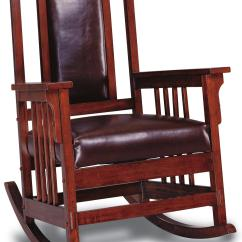 Wood Rocking Chair Styles Ergonomic Bangladesh Coaster Rockers Mission Style Rocker With Leather