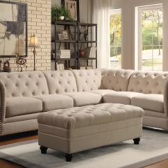 Best Sofa Designs In The World How To Make Cushions Coaster Roy Button Tufted Sectional With Armless