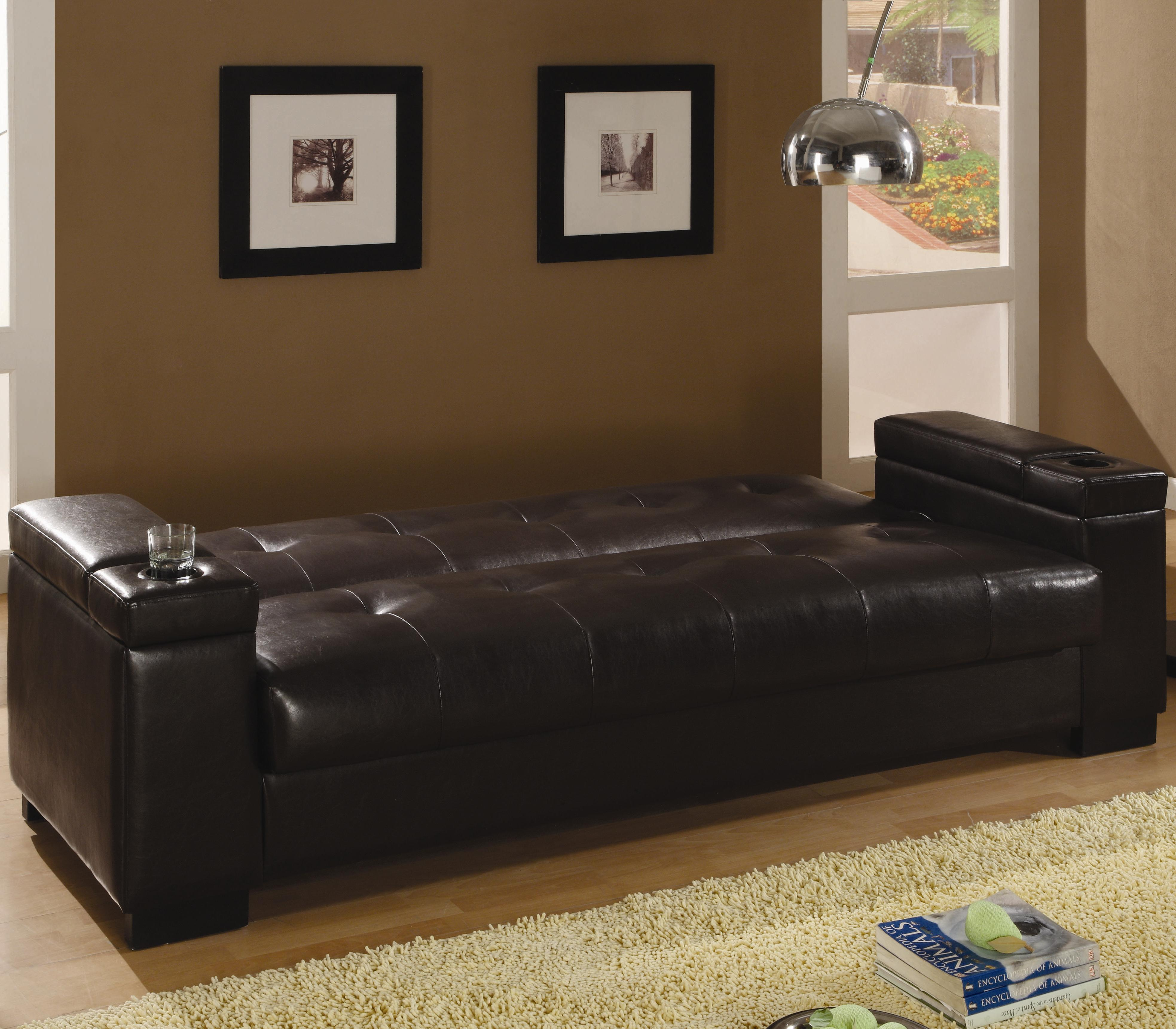 coasters sofa bed sofas scs chesterfield coaster beds and futons faux leather convertible