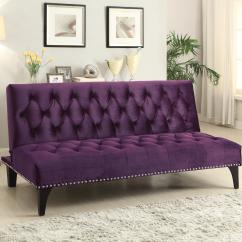 Coasters Sofa Bed U Shaped Black Leather Coaster Beds And Futons 500235 Transitional