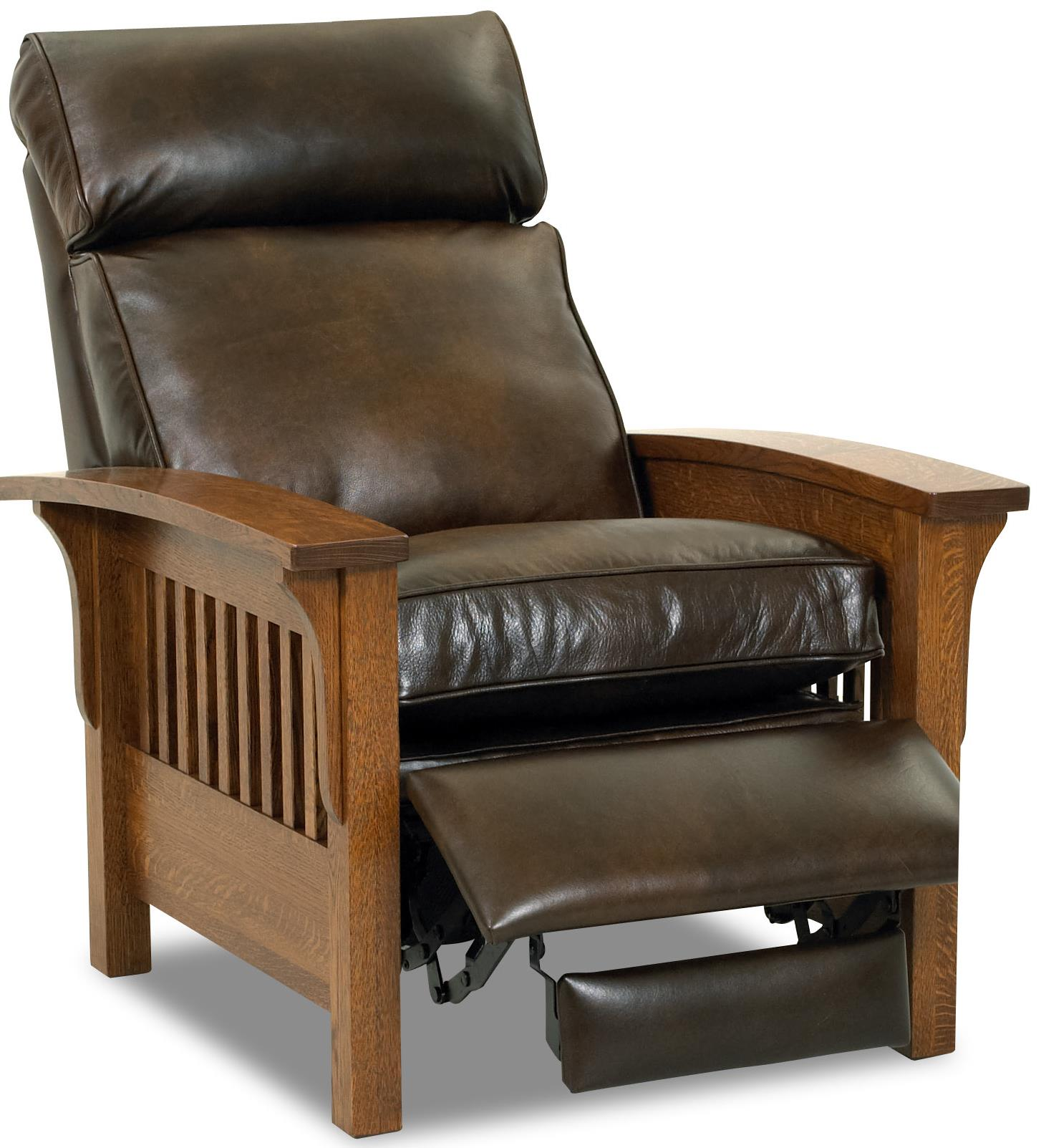 Mission Recliner Chair Comfort Design Mission High Leg Leather Recliner With Down