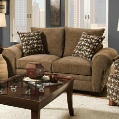 Comfy Chair And Ottoman Real Leather Tub Brown Corinthian 5460 Traditional Styled Loveseat With