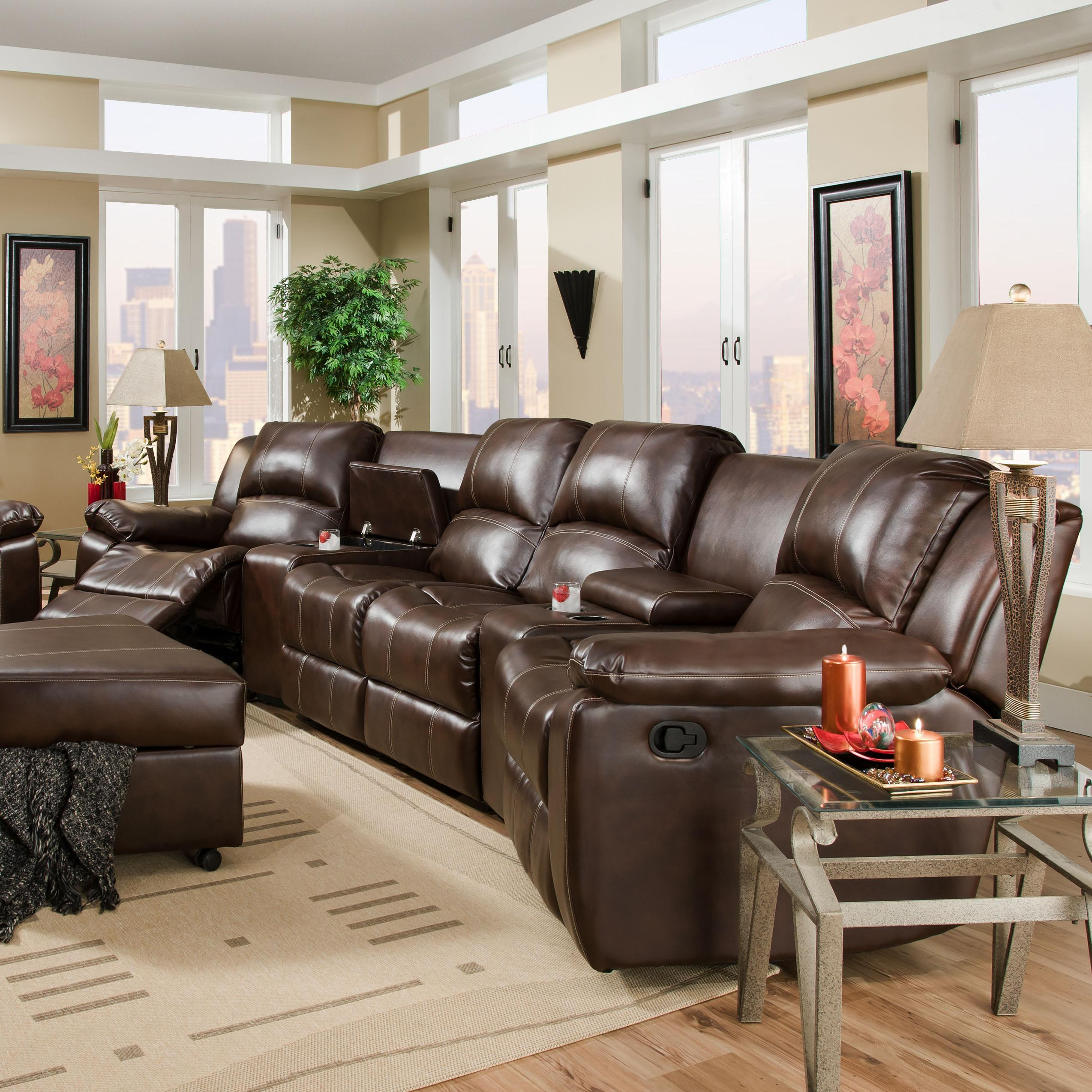 theatre sectional sofa deep seat sofas living room furniture brady reclining theater seating with center loveseat