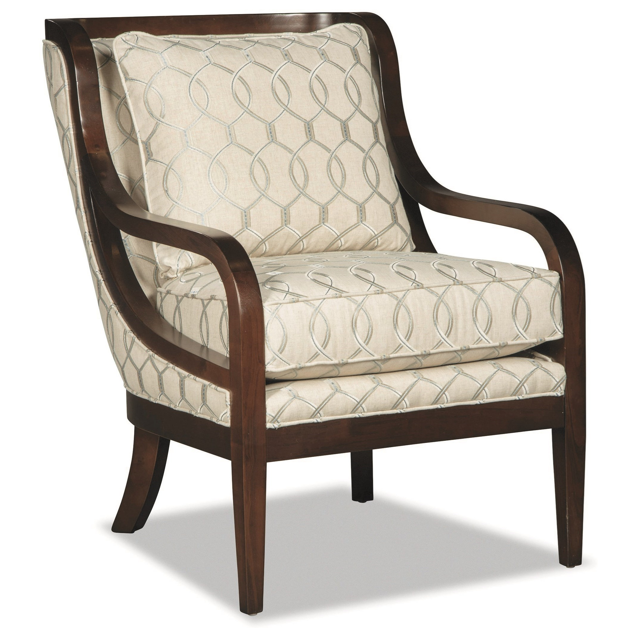 Wood Accent Chair Craftmaster 067410 067510 Accent Chair With Exposed Wood