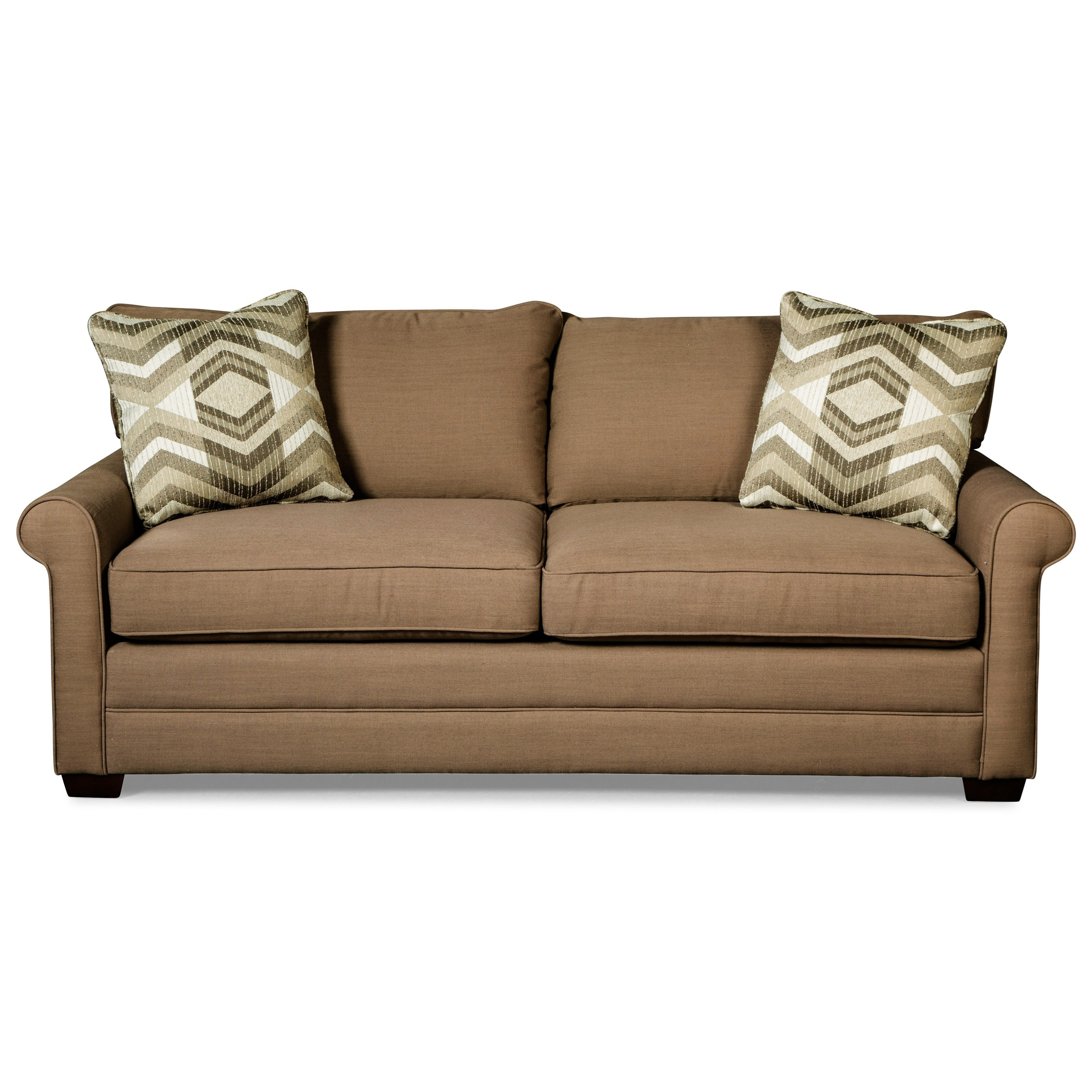 memory foam sleeper sofa mattress queen timber frame bed craftmaster 7678 casual with rolled arms and