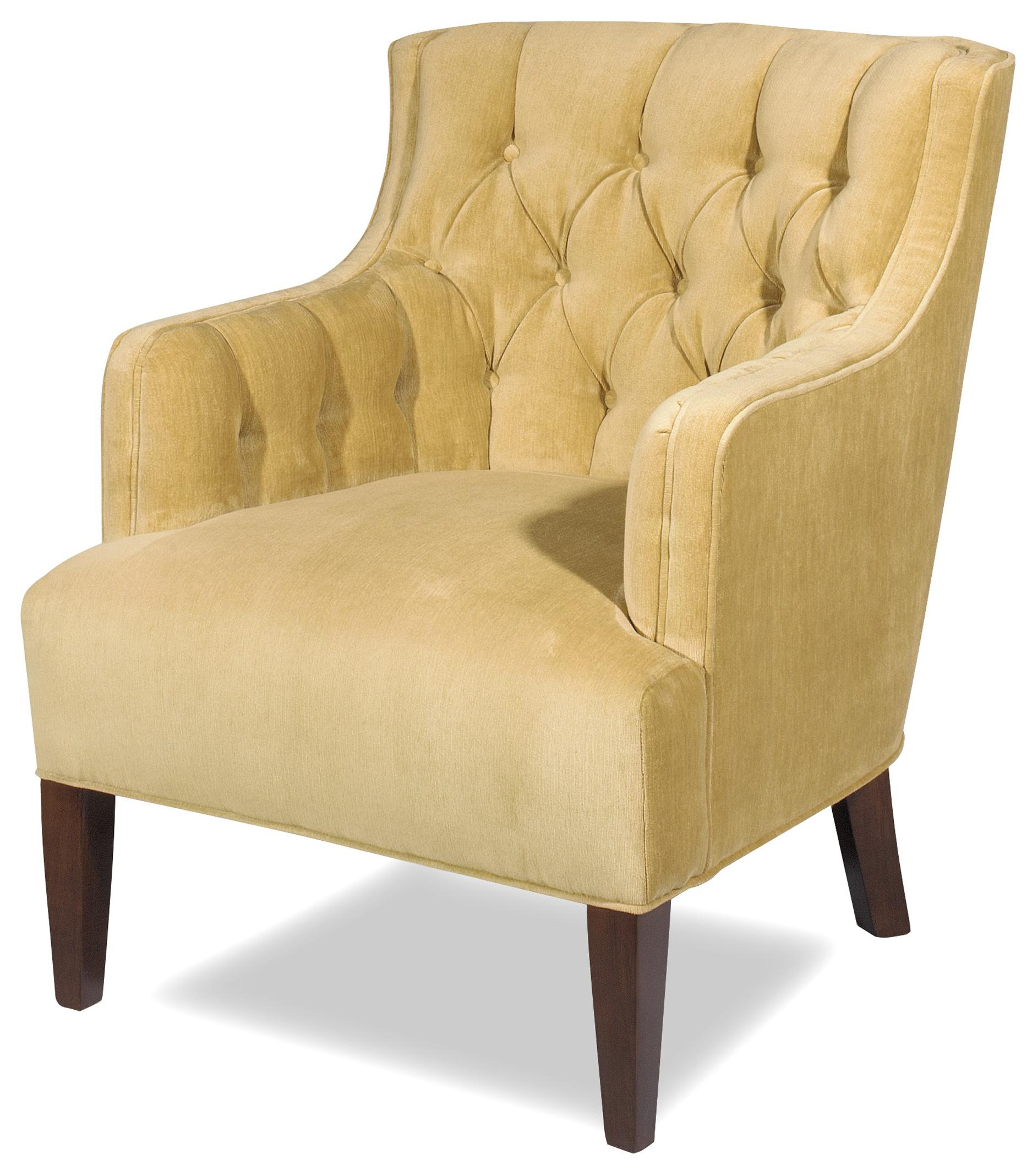 tufted yellow chair ergonomic reviews uk craftmaster accent chairs 027010 transitional wing