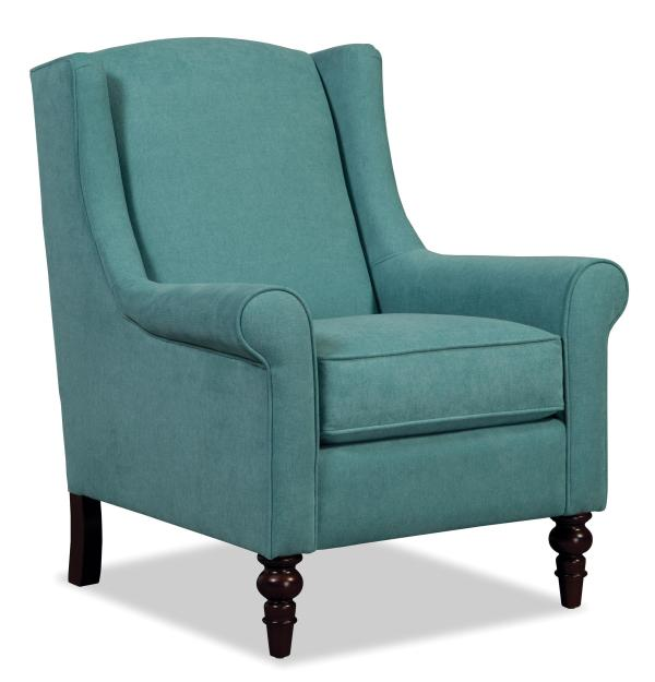Craftmaster Accent Chairs Wing Back Chair with Traditional Turned Legs   Miskelly Furniture ...