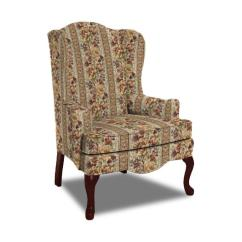 Traditional Accent Chairs Bin Bags Wing Chair With Cabriole Legs By