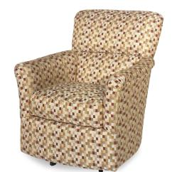 Swivel Upholstered Chairs Accent Chair For Desk Contemporary Glider