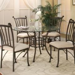 Circle Glass Table And Chairs Camping Rocking Chair Cramco Inc Denali 5 Piece Round With