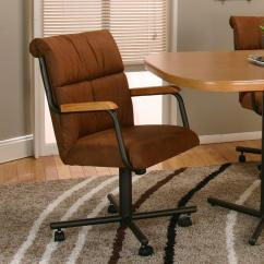 Dining Room Chairs On Wheels Low Back Office Chair Cramco Inc Landon Arm With Casters Value