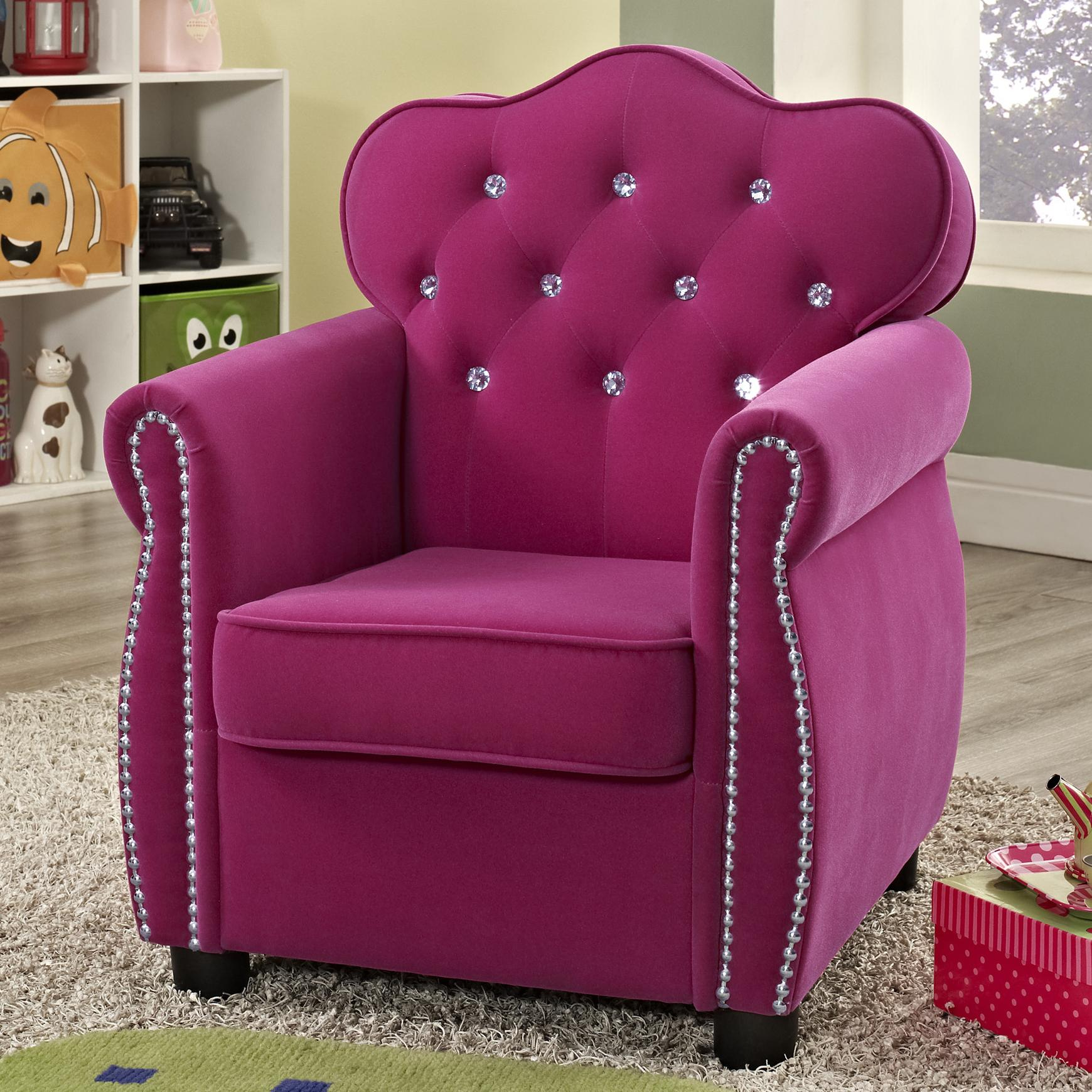 Pink Chairs For Bedrooms Crown Mark Amelia 7009 Contemporary Pink Kids Chair With