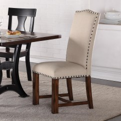 Nailhead Dining Room Chairs Ergonomic Chair Store Near Me Crown Mark Astor Upholstered Parson With