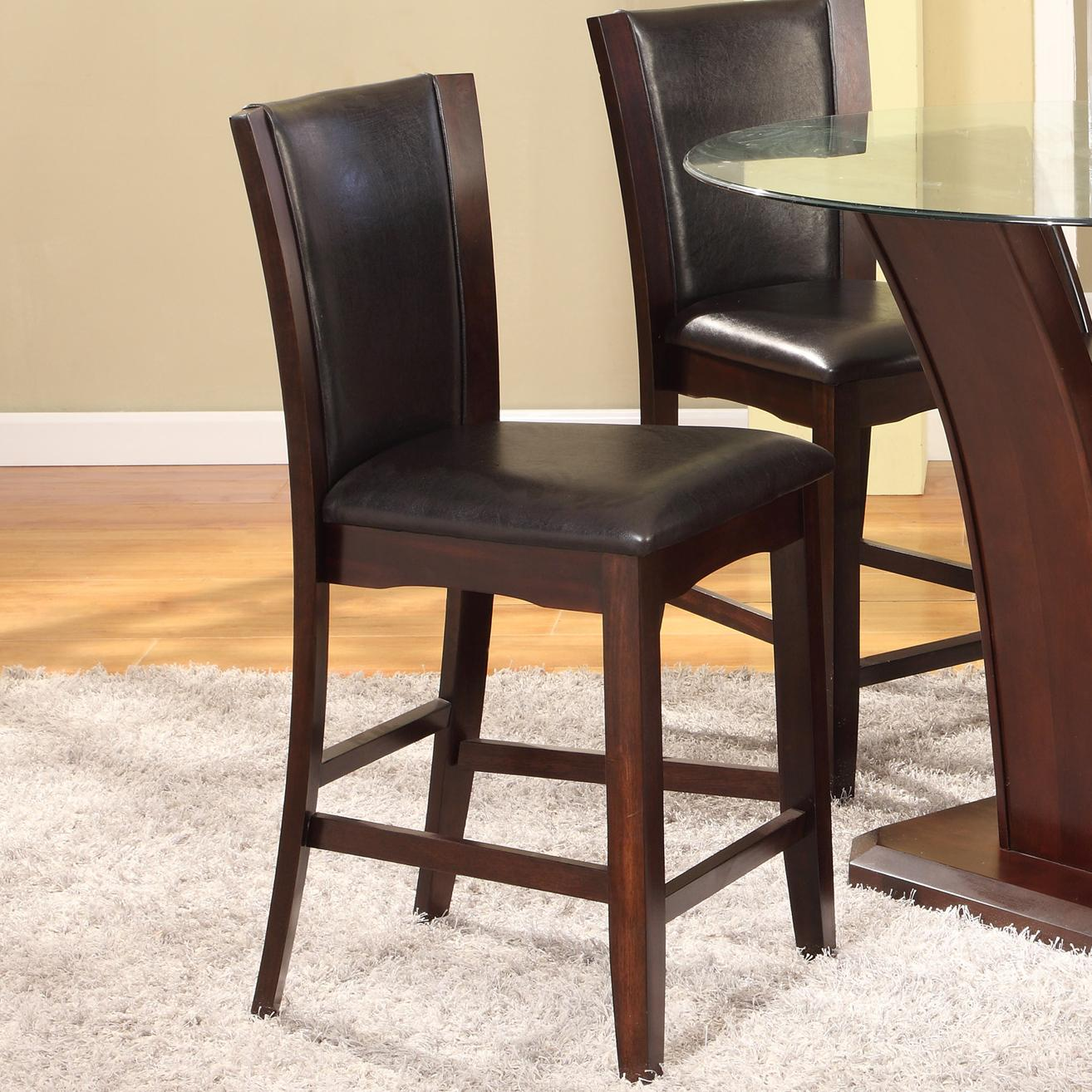 Bar Height Dining Chairs Crown Mark Camelia Espresso 1710s 24 Esp Counter Height
