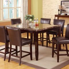 Bar Height Table And Chairs Set Costco Living Room Crown Mark Ferrara 7 Piece Pub Counter