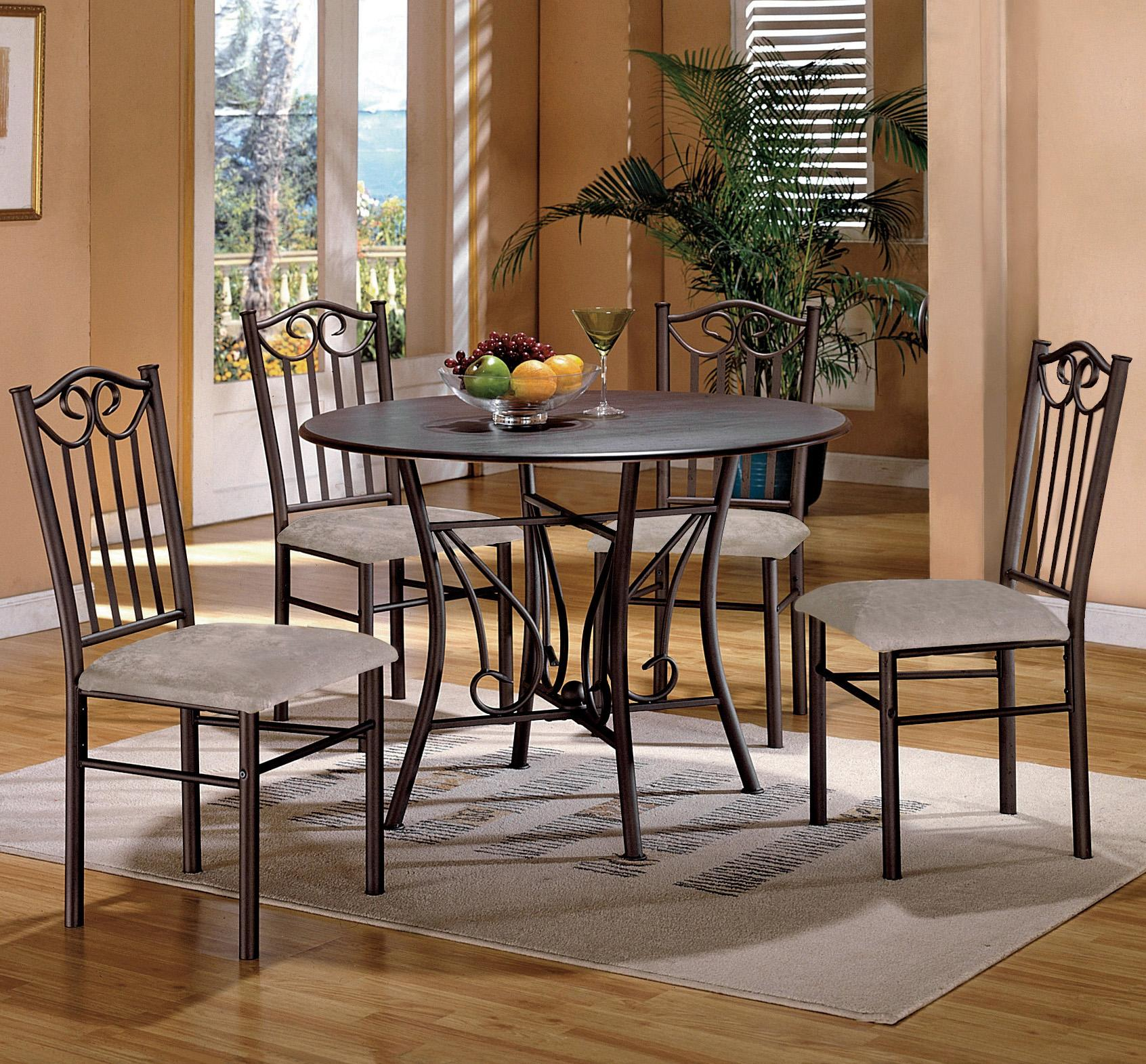 Crown Chair Crown Mark Hayes 5 Piece Wood Top Dining Table And