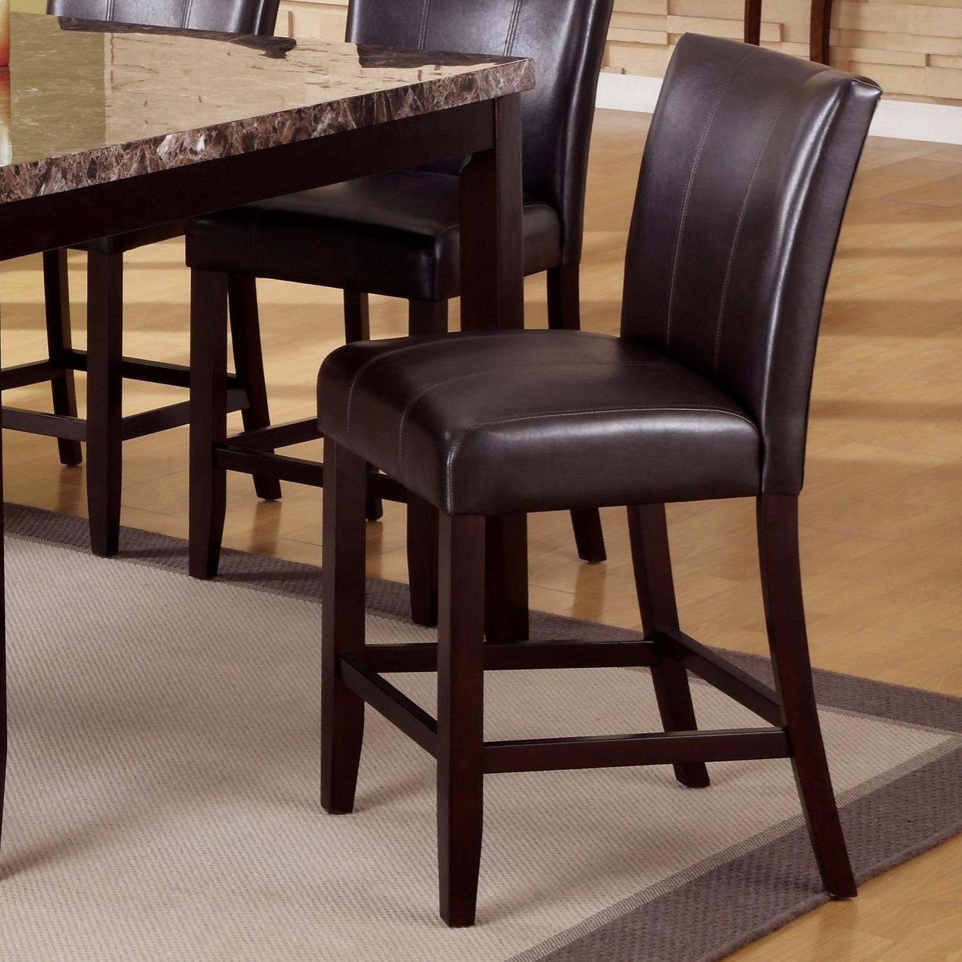 upholstered counter height chairs john lewis chair cushion covers crown mark madrid and ferrara 2723s 24