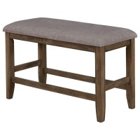 Crown Mark Manning Casual Upholstered Counter Height Bench ...