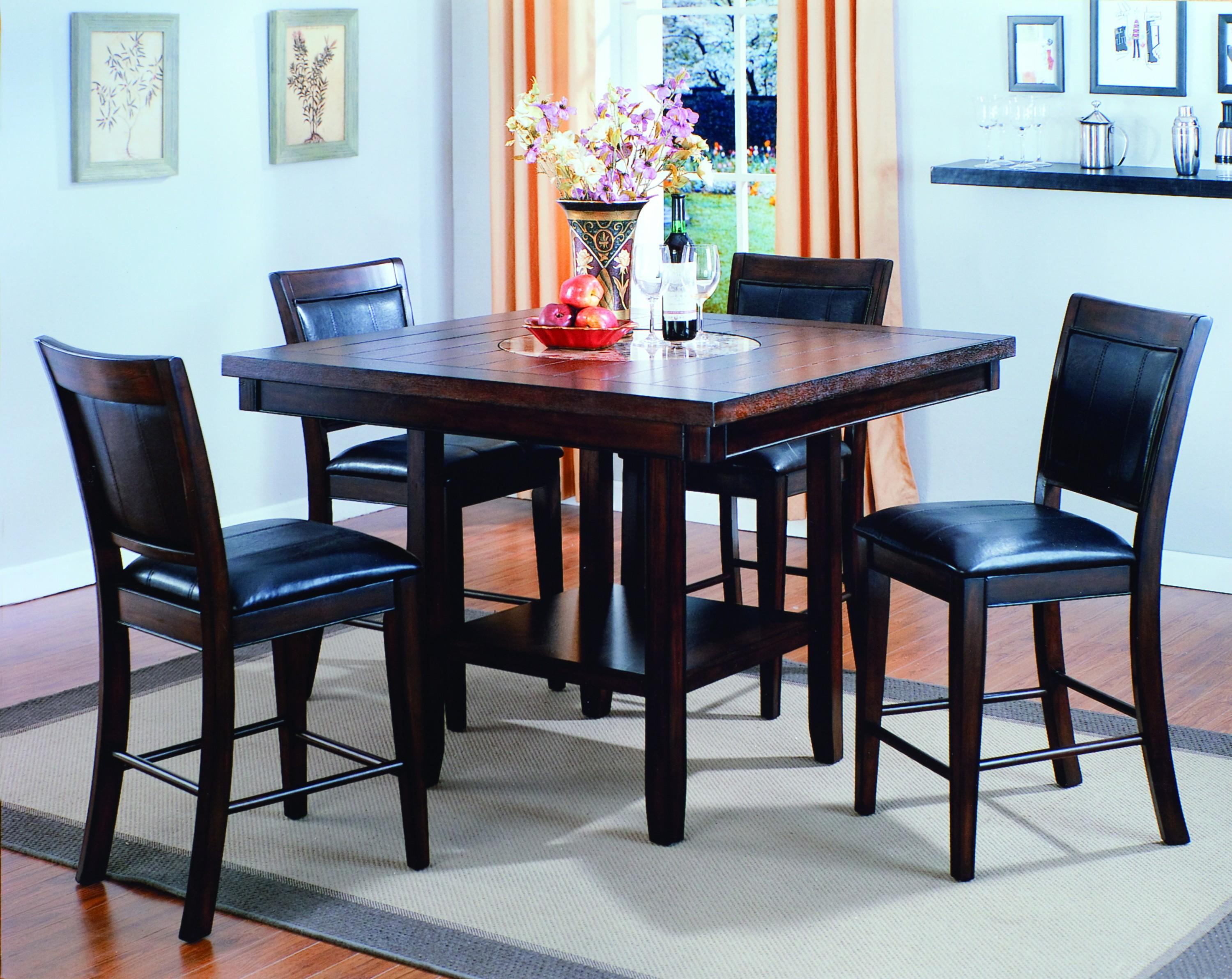 Bar Height Table And Chairs Crown Mark Fulton 5 Piece Counter Height Table And Chair