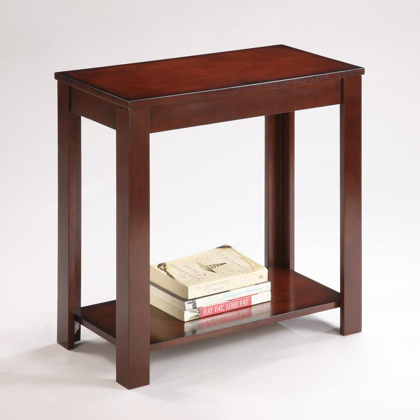 Chair Side Table With Storage Crown Mark Pierce Pierce Chairside Table With Inlay Shelf