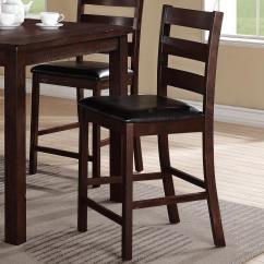Upholstered Counter Height Chair Navy Desk Crown Mark Quinn 2764s 24 Ladderback