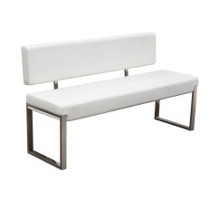 Steel Frame Sofa Forros Para Sofas En Miami Diamond Knox Wh Knoxbbewh Bench With Back And Stainless