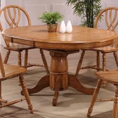 Pedestal Table And Chairs Chair Covers Los Angeles E C I Furniture Dining 2150 04 T B Solid Oak Single