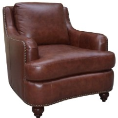 Upholstered Chair With Nailhead Trim Ikea Stackable Chairs Elements Napoli Leather Royal