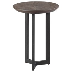 Gray Chair Side Table On High England Graystone H650918 Round Chairside Coconis