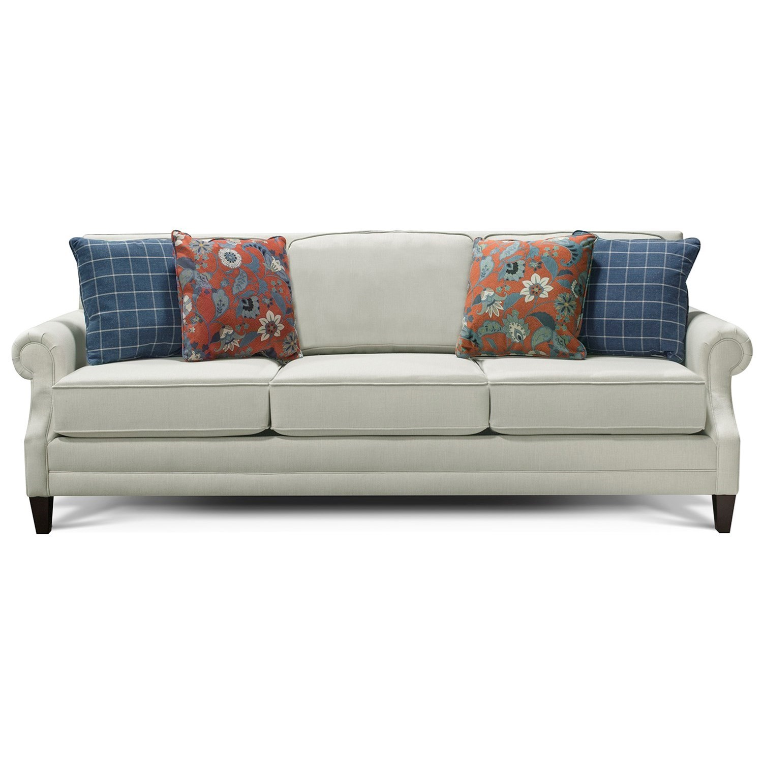 palmer sofa small scale sofas ready to emble england transitional with rolled arms