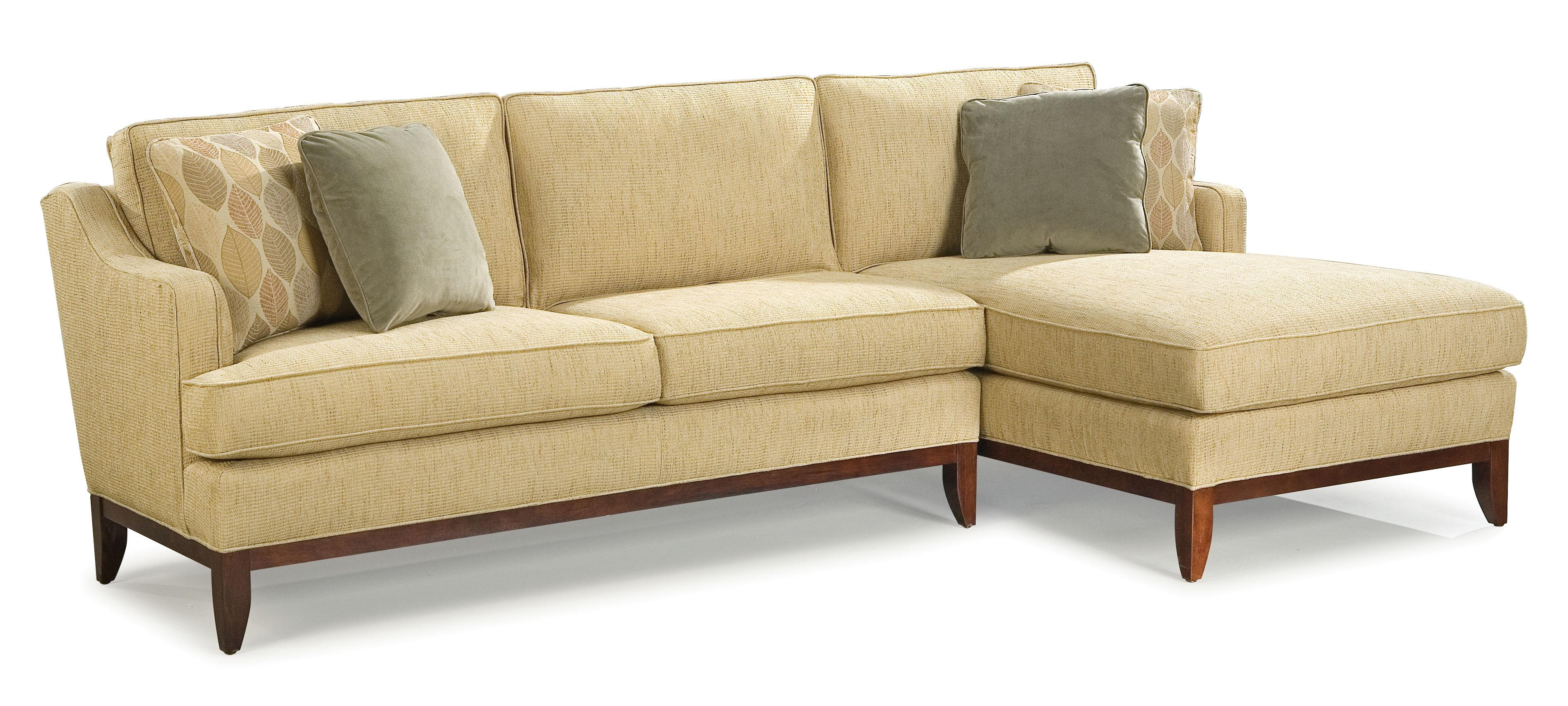 fairfield sofa bed mckinley leather 5194 2714 contemporary sectional with right side