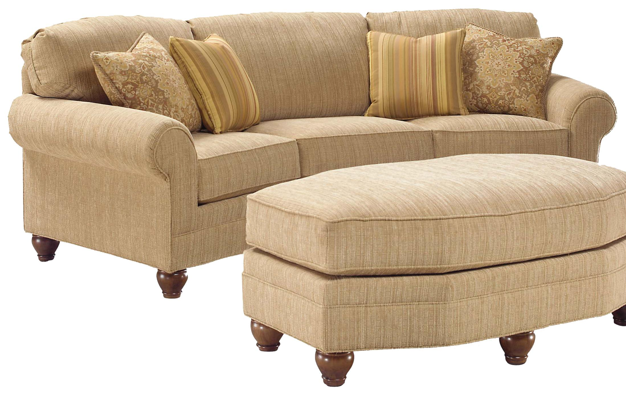 apartment sofas for sale cushions sofa seats fairfield 3768 curved arch olinde 39s furniture