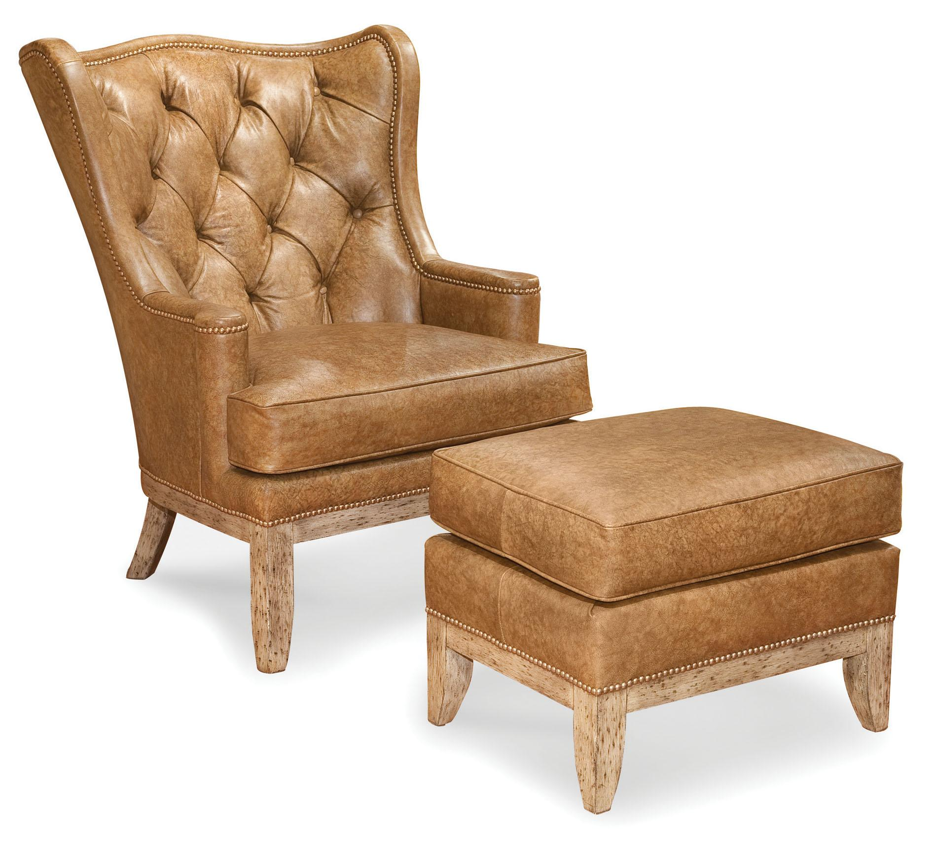 Fairfield Chairs Fairfield Chairs Tufted Wing Chair With Nailhead Trim