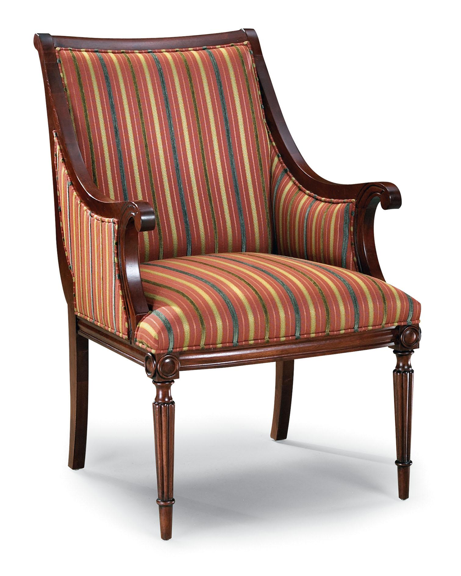 Wood Accent Chair Fairfield Chairs 5405 01 Exposed Wood Upholstered Accent