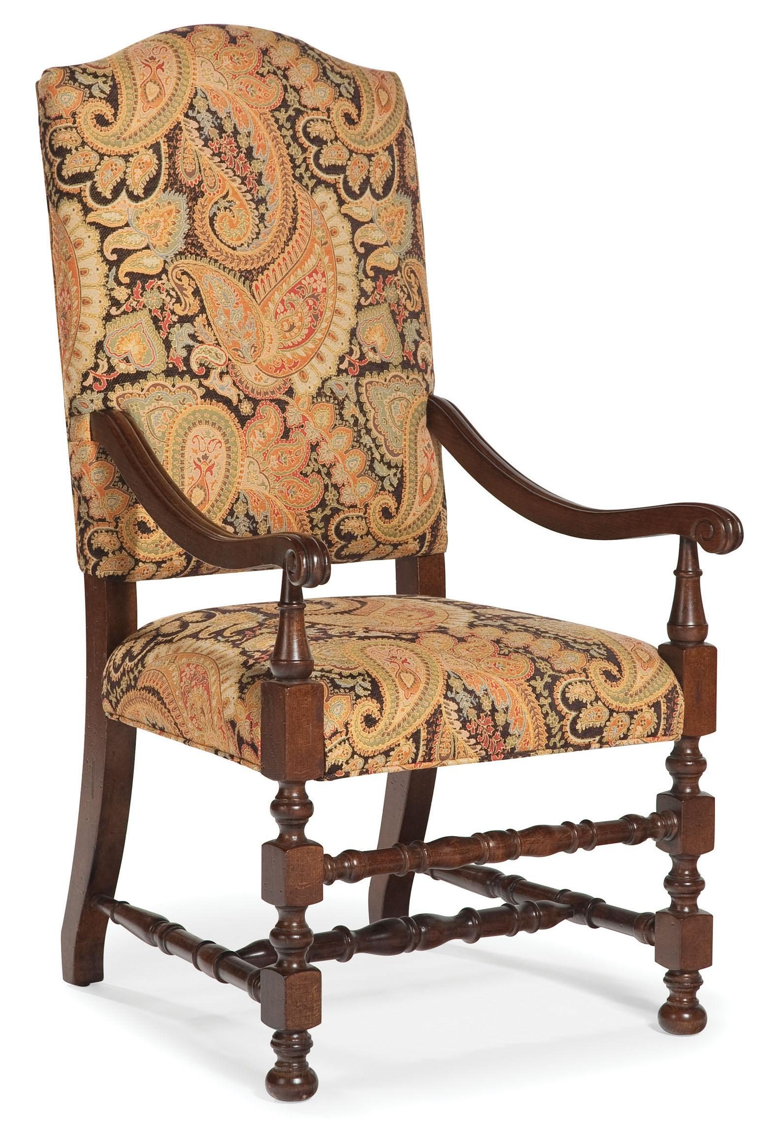 Wood Accent Chair Fairfield Chairs Exposed Wood Upholstered Accent Chair