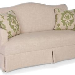 Fairfield Sofa Bed Oval Gl Table Accents Skirted Camel Back Belfort