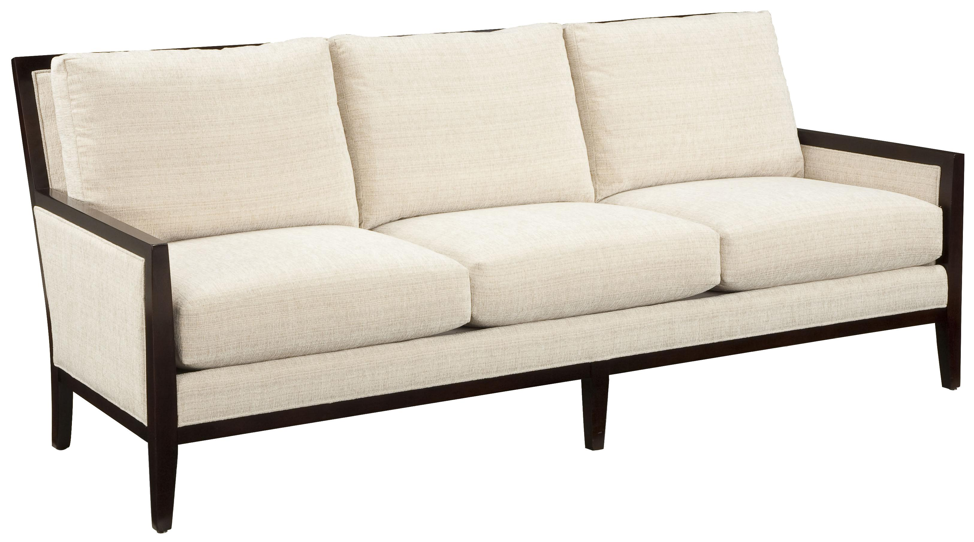 contemporary sofa with wood trim how to repair leather cat scratch fairfield accents styled