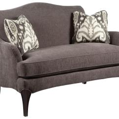 Sofa Wood Frame Exposed Uk Black Leather Living Room Ideas Fairfield Accents Contemporary Styled Settee