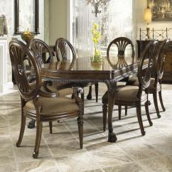 Chair Design Set Tufted Accent Fine Furniture Belvedere Traditional Seven Piece