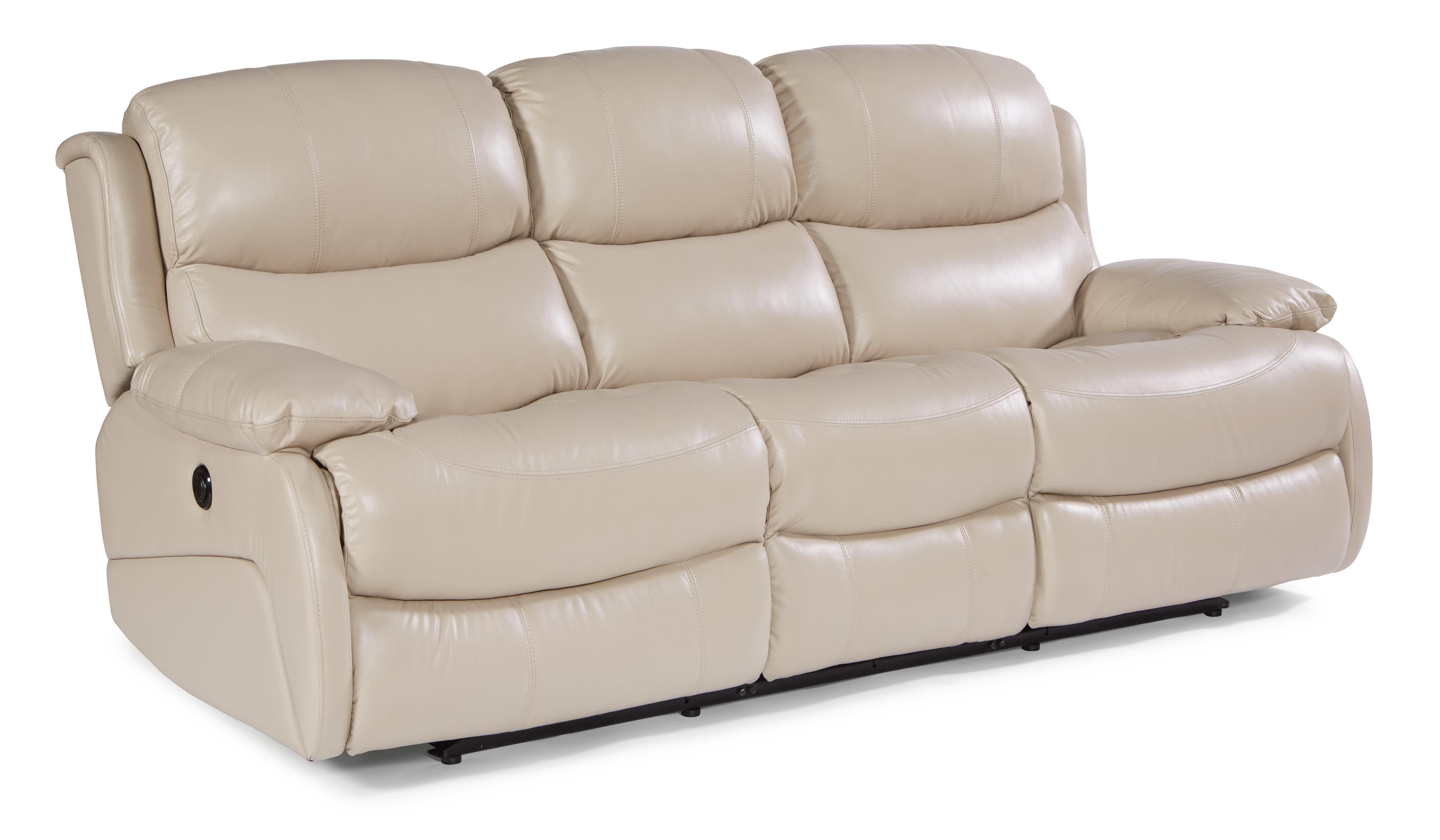 double reclining leather sofa pallet diy plans flexsteel latitudes amsterdam power