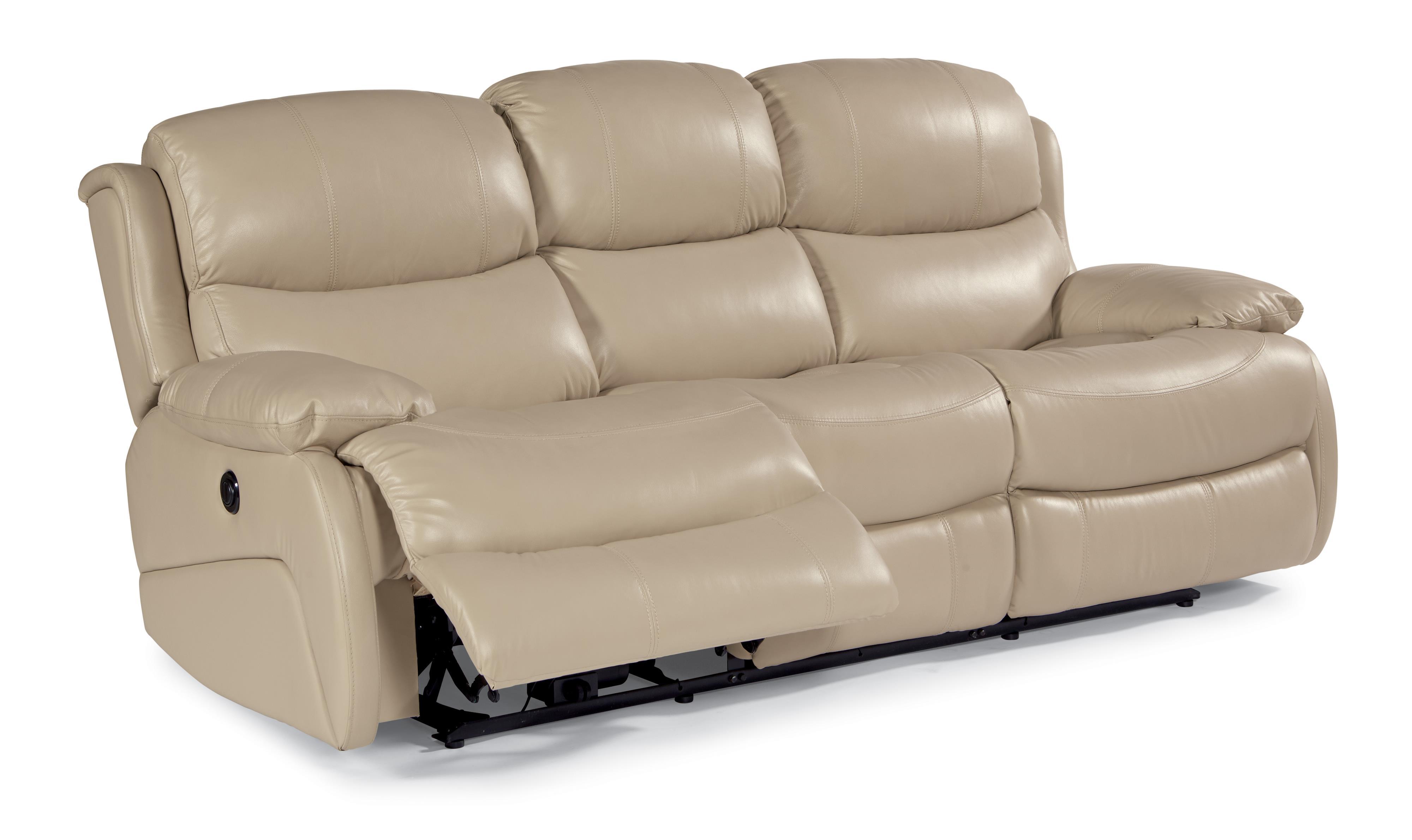 flexsteel capitol double reclining sofa buchanan top grain leather motion latitudes amsterdam 1677 62p power