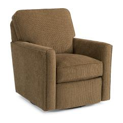 Swivel Upholstered Chairs Swing Chair Inside Flexsteel Accents 0108 11 With Nailhead Studs