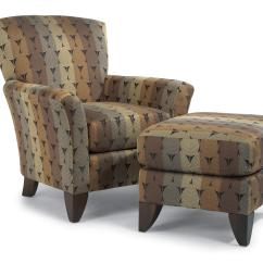 Accent Chairs With Ottoman Dining Room Set Flexsteel Accents Jupiter Chair And